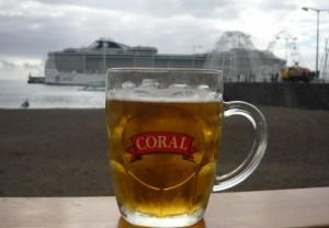 Bierglas Coral Hafen Madeira