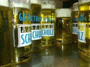 Bierglas Gruppenbild