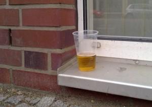 Bier im Becher