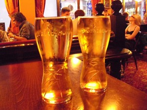 Bierglas Strongbow, Earls Court Tavern