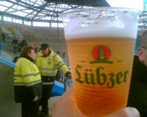 Bierbecher, Lübzer, Stadion Rostock