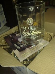 Bierglas Aktien Landbier