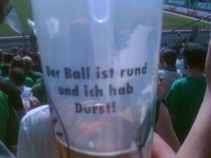 Bierbecher, St. Pauli, mit Spruch