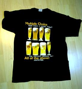Bierglas, T-Shirt