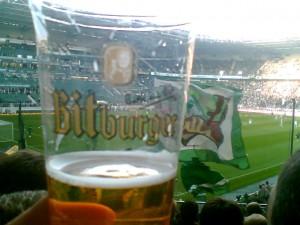 Bier im Becher: Bitburger im Borussia Park