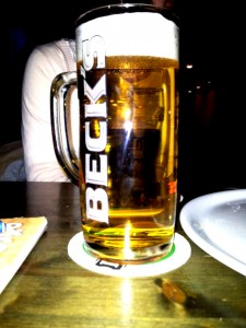 Bierglas Becks, Donau Seidel, Sahm