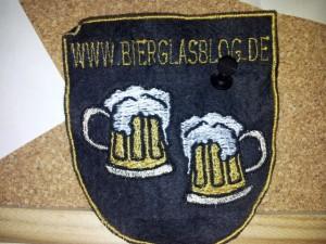 Bierglasblog Aufnäher