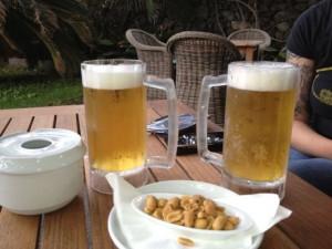 Biergläser aus Plastik