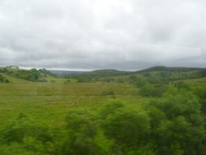Landschaft Irland, Bild aus dem Zug