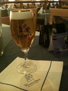 Bierglas Holsten, Restaurant Fischerhaus Hamburg
